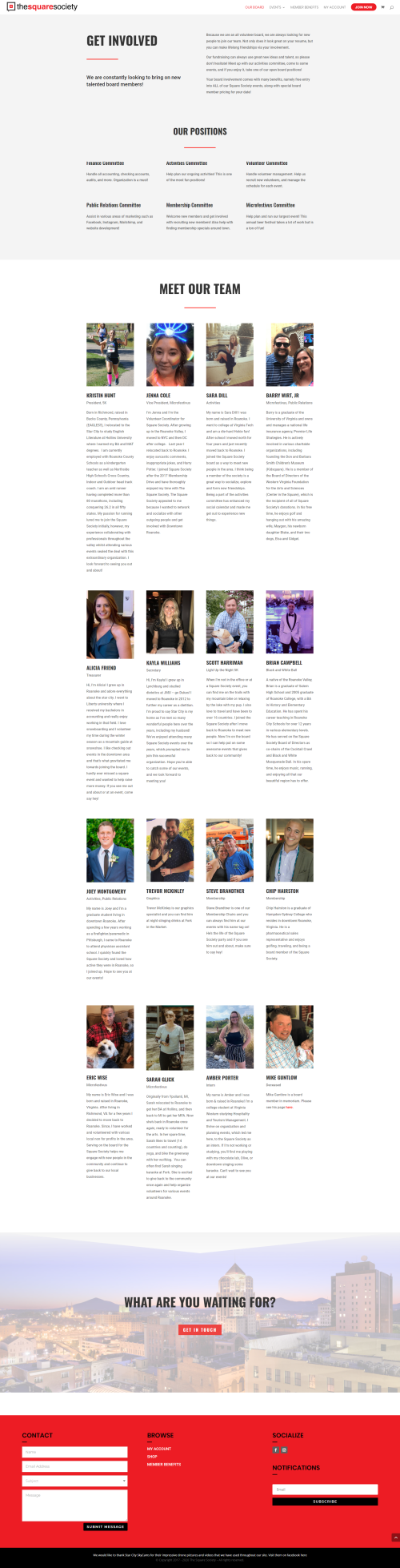 Square Society Board Page